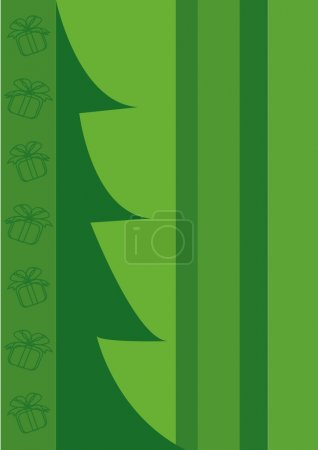 Green blank with abstract christmas tree