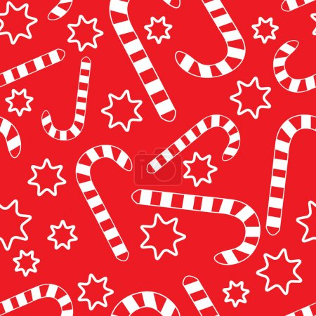Seamless pattern with candycanes