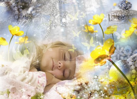 Photo for Sweet dreams of a little girl. - Royalty Free Image