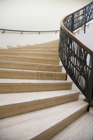 Photo for View of modern wide staircase - Royalty Free Image