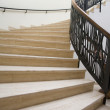 View of modern wide staircase...