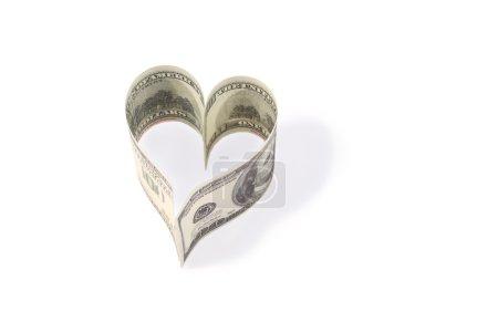Photo pour Billets en dollars sur fond blanc - image libre de droit