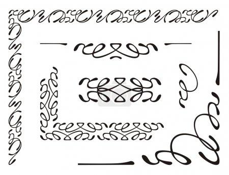 Photo pour Illustration vectorielle, éléments d'ornement décoratif - image libre de droit