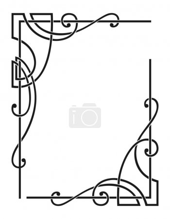 Illustration for Vector decorative corners for your design - Royalty Free Image