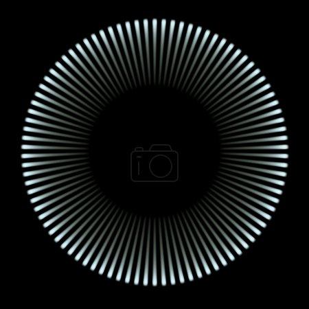 Photo pour Cercle de lumière bleue (image 3d en haute résolution) - image libre de droit