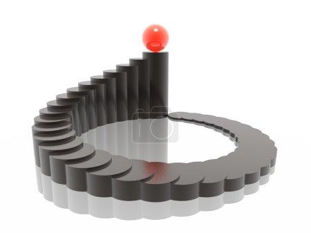 Foto de Gráfico 3D armonía con balón ganador - Imagen libre de derechos