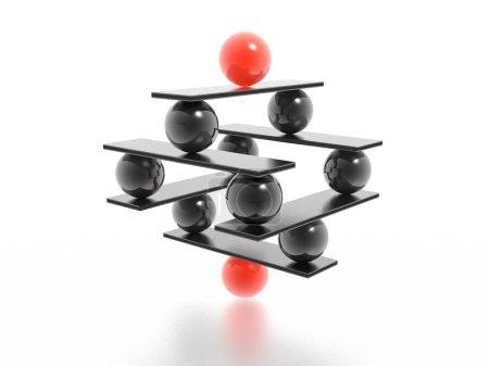 Photo pour Équilibre (image 3d en haute résolution) - image libre de droit