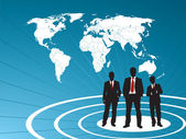 In business graph finance and world map