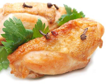 Fried sliced chicken