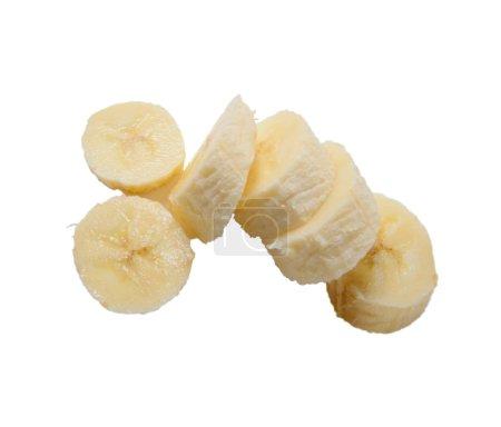 Foto de Plátano amarillo limpio sobre el fondo blanco - Imagen libre de derechos
