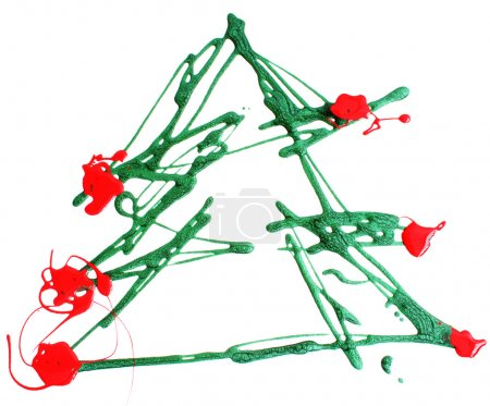 Photo for Christmas tree made from paint - Royalty Free Image