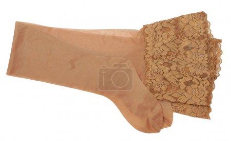 Beige stockings