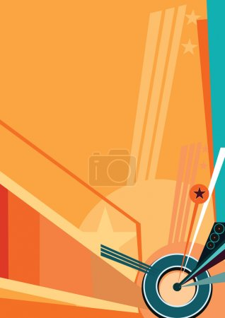 Illustration for Dynamic wall-paper a composition from lines in the long term - Royalty Free Image