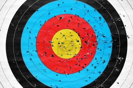 Photo pour Modèle de cible de tir coloré. Contexte sportif abstrait . - image libre de droit