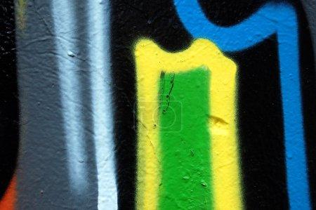 Abstract graffiti detail
