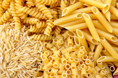Photo for Four kinds of italian pasta. Food background. - Royalty Free Image