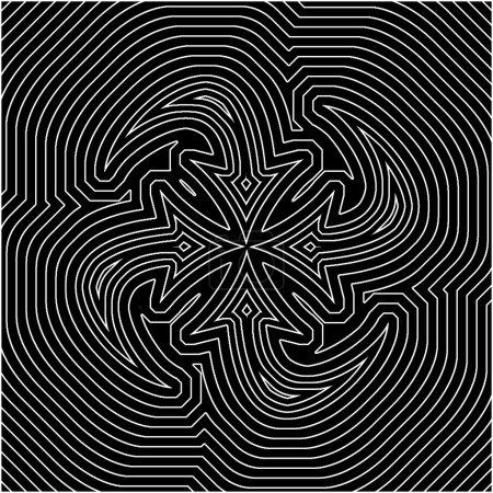 Photo pour Un arrière-plan techno de formes concentriques, Idiote l'œil à voir le mouvement. Un bon bagage techno - image libre de droit