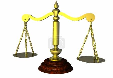 Photo pour Balance de justice, ou juste pour peser ? - image libre de droit