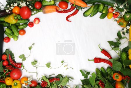 Photo for Full frame of a broad variety of Berries and vegetables - Royalty Free Image