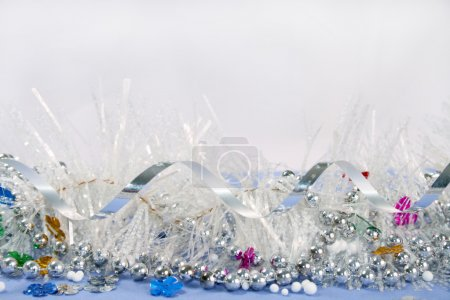 Photo for Framework from christmas ornaments. Isolation on white - Royalty Free Image