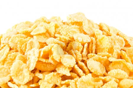 Photo for Corn Flakes isolated on white background - Royalty Free Image
