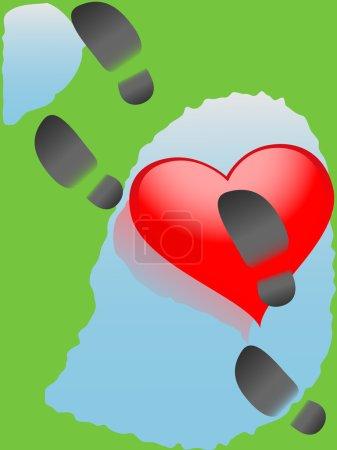 Downtrodden heart