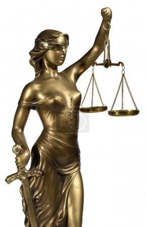 Photo pour Dame de Justice sur fond blanc - image libre de droit