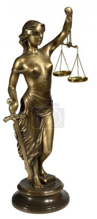 Photo for Lady of Justice on white background - Royalty Free Image