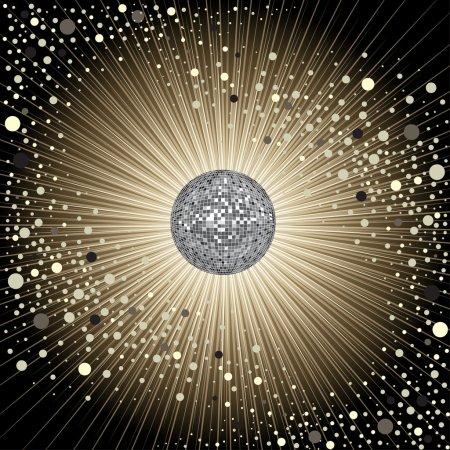 Vector CD Cover design with disco-ball