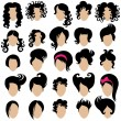 Big set of vector hair styling...