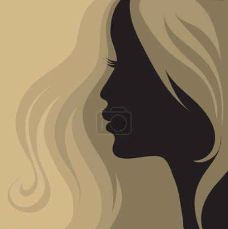 Illustration for Portrait of blond girl with beautiful hair - Royalty Free Image
