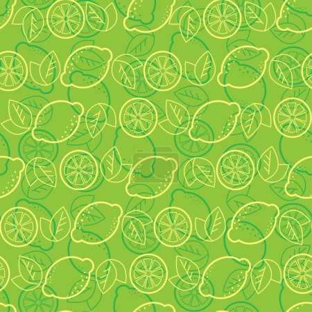 "Illustration for Seamless pattern from lemons (From my big ""Seamless collection"") - Royalty Free Image"