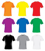 Set of colorful t-shirt samples