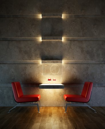 Photo for 3d rendering interior lounge room - Royalty Free Image