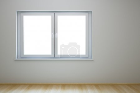 Empty new room with window
