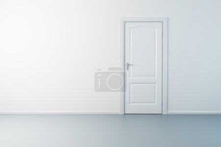 Photo for 3d rendering the empty room with door - Royalty Free Image