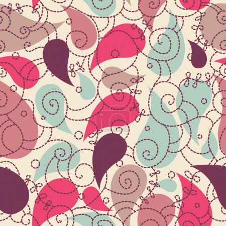Photo for Cute paisley seamless background for your design - Royalty Free Image