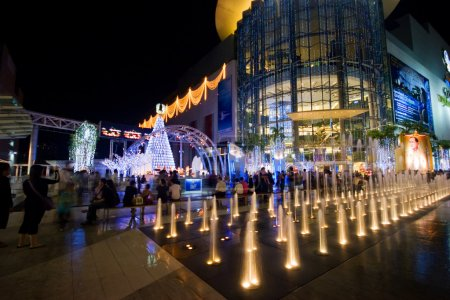 Photo for BANGKOK - 22 DECEMBER: Night illumination of Bangkok, the capital of the Kingdom of Thailand on the eve of Christmas on 22 December 2007. - Royalty Free Image