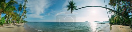 Photo for Panorama of tropical beach. Siam bay. Province Trat. Koh Mak island. Kingdom Thailand - Royalty Free Image
