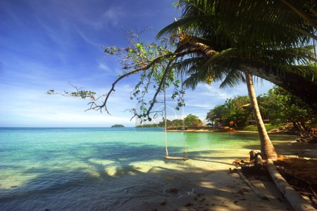Photo for On the tropical beach. Siam bay. Province Trat. Koh Chang island. Kingdom Thailand - Royalty Free Image