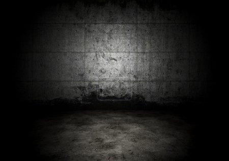 An empty dark dungeon wall