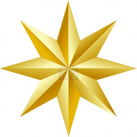 Beautiful golden star Vector
