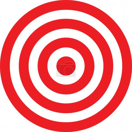 Vector transparent target illustration
