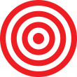 Vector transparent target illustration. Put this t...