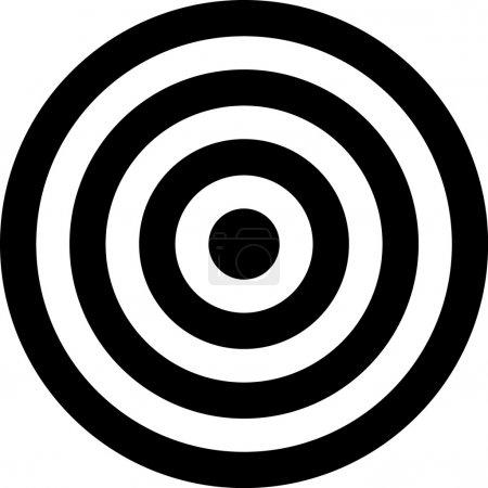 Vector transparent target illustration