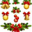 Vector illustrations - christmas ornaments icons...