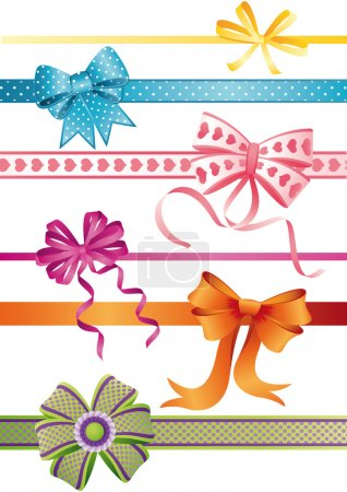 Illustration for Vector illustration - set of bows - Royalty Free Image
