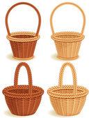 Vector illustration - Four wattled baskets