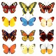Vector illustration - butterfly icon set...