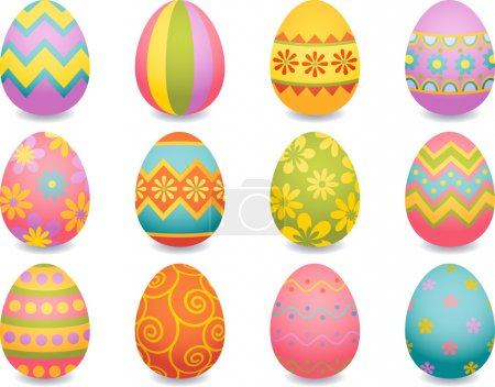 Illustration for Vector illustration - easter egg icons - Royalty Free Image